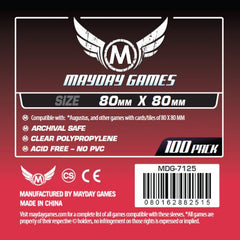 Mayday Square Card Sleeves: 80 x 80mm (set of 100) - Top Shelf Gamer