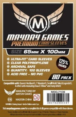 PREMIUM Mayday Ultra-Fit Card Sleeves: 65 x 100mm (set of 80) - Top Shelf Gamer - 1