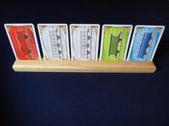 Single Row Pine Wood Card Holder - Top Shelf Gamer