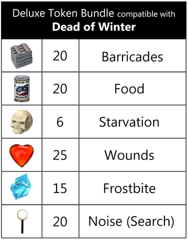 Deluxe Token Bundle compatible with Dead of Winter™