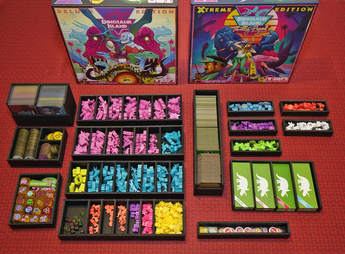 Dinosaur Island Foamcore Insert Pre Assembled Top Shelf Gamer Upgrades And Accessories For Your Favorite Tabletop Games