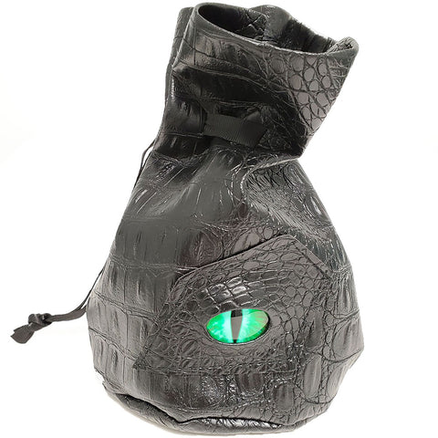Standing Dragon Eye (Green) Drawstring Bag