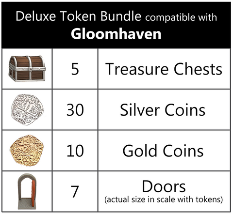Deluxe Token Bundle compatible with Gloomhaven™