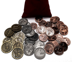 Egyptian Coins Set in Burgundy Bag (set of 50)