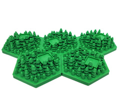 3D Greenery Hex Tiles Booster Pack (set of 5)