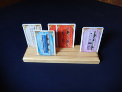 3 Row Pine Wood Game Card Holder - Top Shelf Gamer