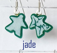Glass Earings - Green Meeples
