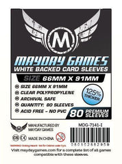 PREMIUM Mayday 63.5 x 88mm White Backed Card Sleeves (set of 80) - Top Shelf Gamer