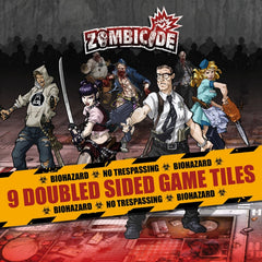 Zombicide: Tile Pack - 9 Double Sided Game Tiles [clearance] - Top Shelf Gamer