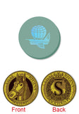 Feudum™ : Gold Atticus Metal Coin & Flying Epoch Marker