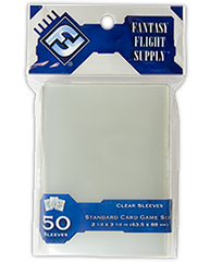 FFG Clear Standard Card Sleeves: 63.5 x 88mm (set of 50) - Top Shelf Gamer