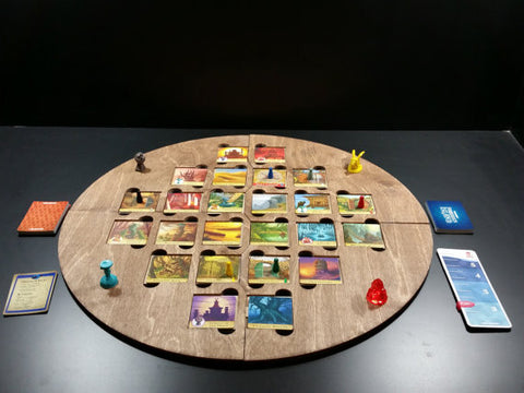 Forbidden Island laser cut game board to hold the tiles in place