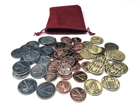 Coin Bundle Compatible with Five Tribes™ (set of 65)