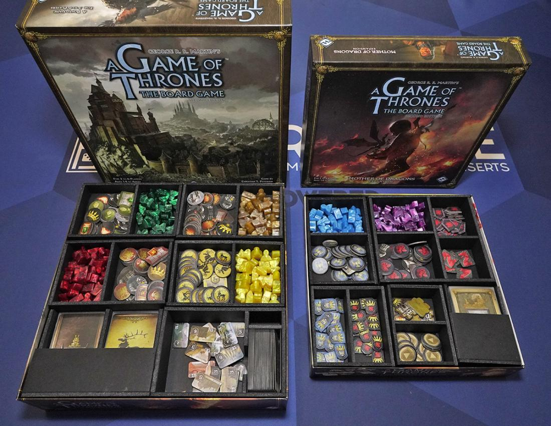 Game Of Thrones The Board Game V3 Foamcore Insert Pre Assembled Top Shelf Gamer Upgrades And Accessories For Your Favorite Tabletop Games