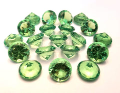 Emerald Green Gems - Acrylic (set of 20)