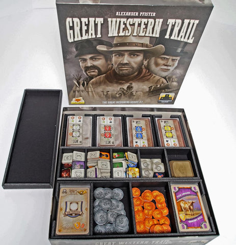 Great Western Trail (BGB overlay version) Foamcore Insert (pre-assembled)