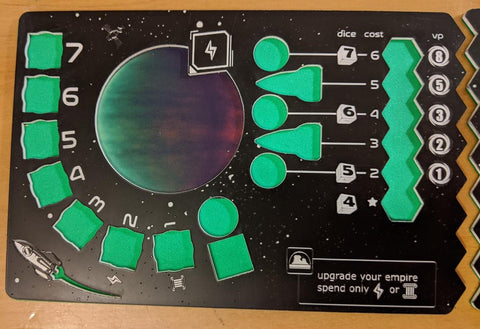 Acrylic Player Board compatible with Tiny Epic Galaxies™ and Beyond the Black™ Expansion