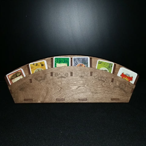 Catan Resource Cards, wooden laser etched stand