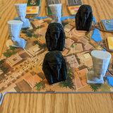 Nefertiti and King Tut Pawns compatible with Imhotep: The Duel