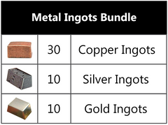 Deluxe Metal Ingots Bundle (set of 50)