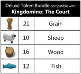 Kingdomino™: The Court compatible Deluxe Token Bundle (set of 59)