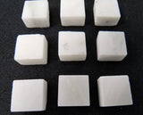 Marble Tiles - White (set of 10)
