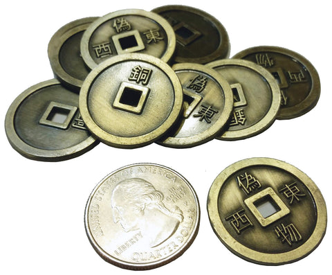 Feudal Japan Coin Set in Burgundy Bag (set of 50)