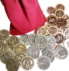 Fire Coin Set in a Burgundy Bag (Set of 50)