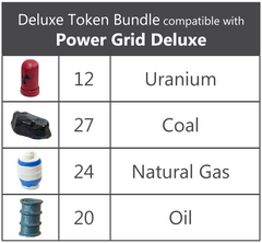 Deluxe Token Bundle compatible with Power Grid Deluxe - Top Shelf Gamer
