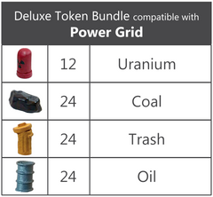 Deluxe Token Bundle compatible with Power Grid - Top Shelf Gamer