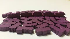 Purple Wooden Train Set (set of 50)