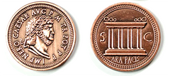 Roman Copper Coins (set of 10)