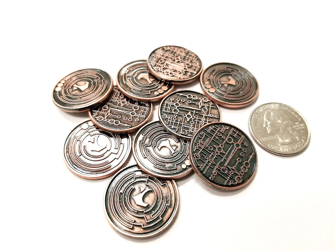Top Shelf Gamer | Sci-Fi 2 0 Copper Coin (set of 10)