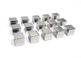 Silver Metal Cubes 9.5mm V2 (set of 15)