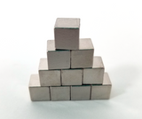 Silver Metal Cubes (set of 10)