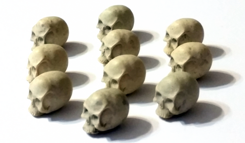 Realistic Skull Tokens (set of 10)