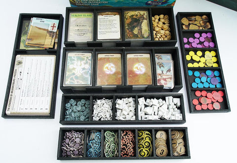 Foamcore Insert compatible with Spirit Island (pre-assembled)