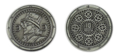 Steampunk Silver Coins  (set of 10) - Top Shelf Gamer