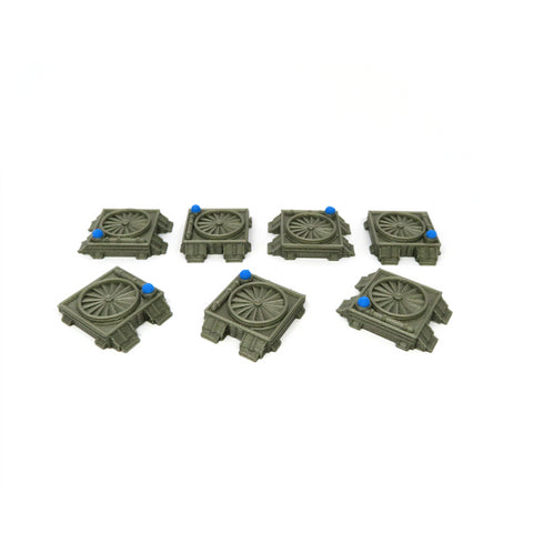Technical corridor entrance tokens compatible with Nemesis™ (set of 15)