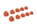 Orange Cloth Bundle Tokens (set of 12)