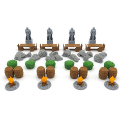 Terrain Tokens compatible with Lord of the Rings: Journeys in Middle Earth™ (set of 32)