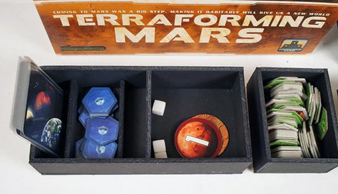 Terraforming Mars™ v2 (Holds Hellas Expansion) Foamcore Insert (pre-assembled)