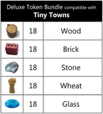 Deluxe Token Bundle compatible with Tiny Towns (set of 90)