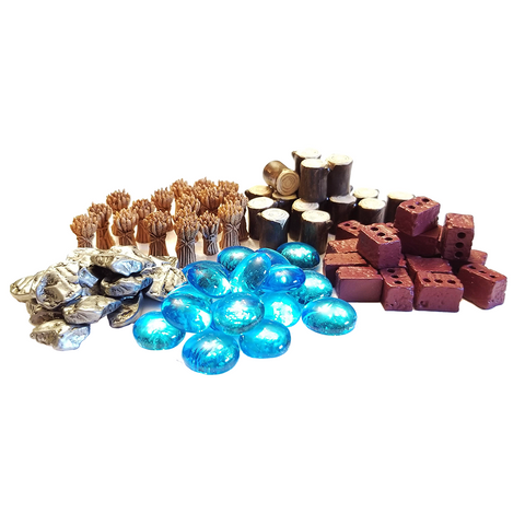 Tiny Towns compatible Deluxe Token Bundle (set of 90)