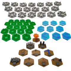 3D Hex Tiles compatible with Terraforming Mars™ (set of 55)