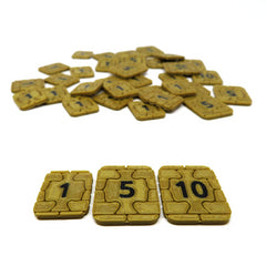 Credit Tokens compatible with Underwater Cities™ (set of 35)
