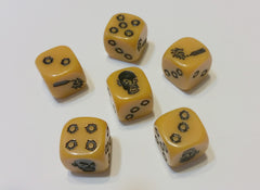 Zombicide: Dice Pack- Yellow Dice - Top Shelf Gamer