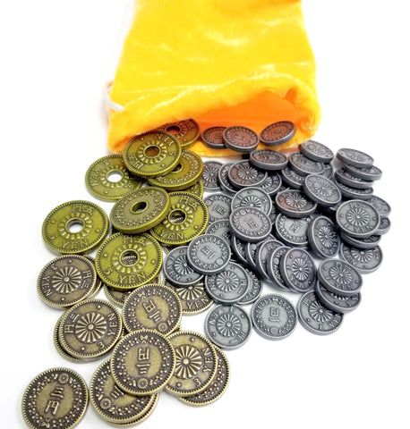 Coin Bundle compatible with Machi Koro™ (set of 78)