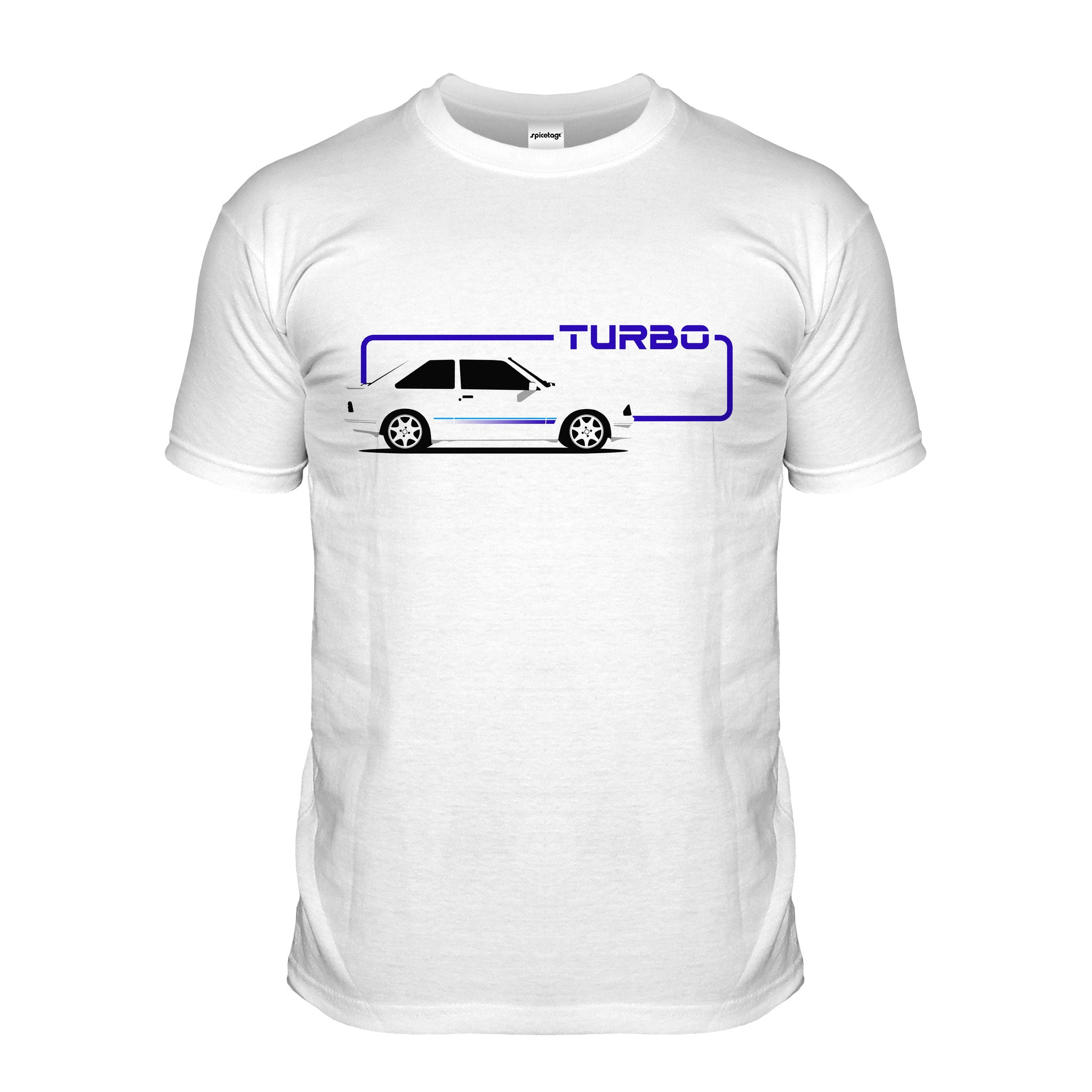 Escort Turbo White Car T-shirt