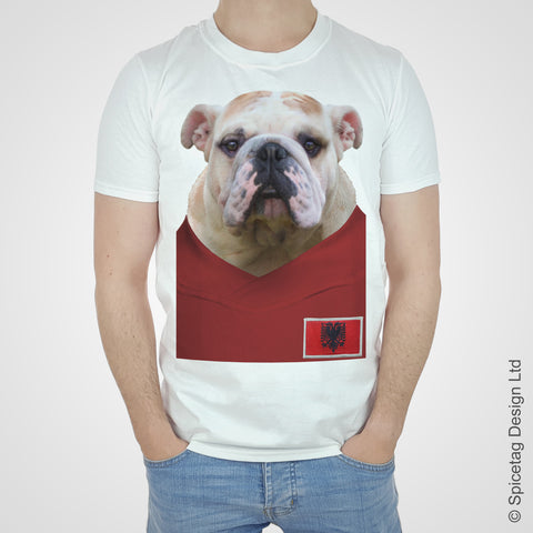 Albania Football Bulldog T-shirt